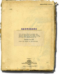 image of Boomerang (Original screenplay for the 1947 film, inscribed during production)