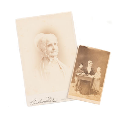 Two cabinet card photographs.