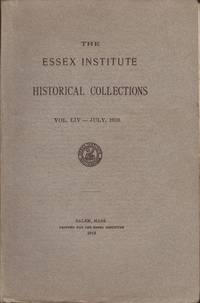 image of Essex Institute Historical Collections, Vol. LIV, No. 3