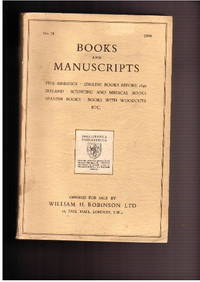 Catalogue no.78/1949: Books & Manuscripts by  WILLIAM H. LTD - LONDON ROBINSON - from Frits Knuf Antiquarian Books (SKU: 68686)