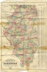Wilber's Miniature Map of Illinois, Showing all the Railroads, Stations,  Townships, Counties, Sections and Rivers