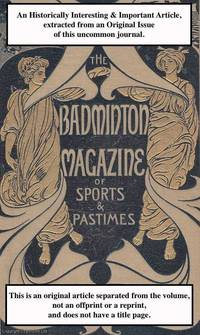 Rugby Football. A rare original article from the Badminton Magazine, 1896
