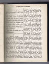Notes and Queries - A Medium of Intercommunication for Literary Men, General Readers. etc. Ninth Series - Volume IX, January - June 1902