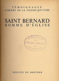 SAINT BERNARD HOMME D'EGLISE by NO AUTHOR - Hardcover - 1953 - from Antic Hay Books (SKU: 4754)