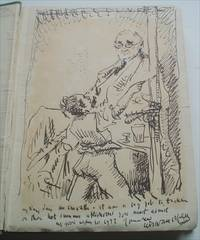 ORIGINAL SELF PORTRAIT INK DRAWING, in. AN ONLOOKER IN FRANCE.1917 - 1919