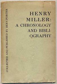 Henry Miller: A Chronology and Bibliography