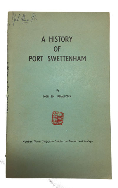 Singapore: Printed by Malaya Publishing House Limited, 1963. Paperback. Very Good. map, iii, 35p. So...