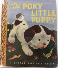 The Poky Little Puppy (Little Golden #8 /6th Printing 1944) in Original Dust Jacket