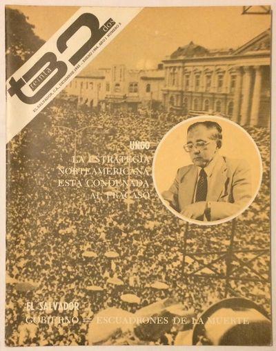 Managua: NOTISAL, Agencia de Información y Análisis de El Salvador, 1983. Single issue of the maga...