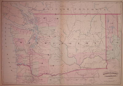 New York: Asher & Adams, 1873. unbound. very good. Map. Engraving with original hand coloring. Image...
