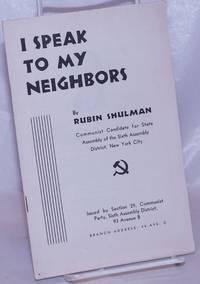 image of I speak to my neighbors