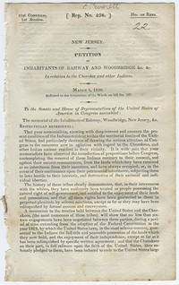 [drop-title] New Jersey. Petition of inhabitants of Rahway and Woodbridge &c. &c. in relation to the Cherokee and other Indians. March 1, 1830. Referred to the Committee of the Whole on bill no. 287.
