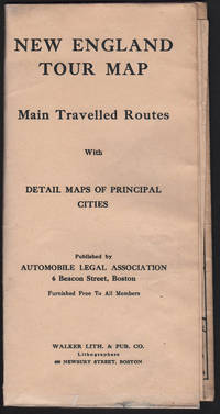 image of NEW ENGLAND TOUR MAP: Main Traveled Routes with detail maps of principle cities.