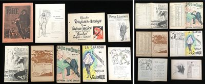 c1900-1910. An array of theater programmes, sheet muscia and an advertisment for Le Rire . Selected ...