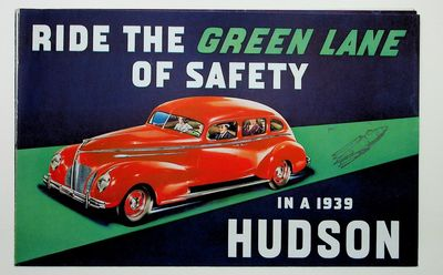 : Hudson Motor Car Co, 1939. First Edition. Very Good. First Edition. 4-page folding brochure. 6 3/4...