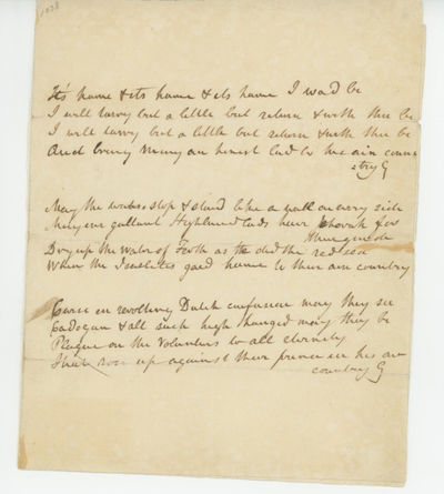 Circa 1820, 1820. Apparently not published in this form. Scott manuscript material with interesting ...