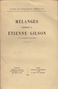 image of Melanges Offerts a Etienne Gilson.
