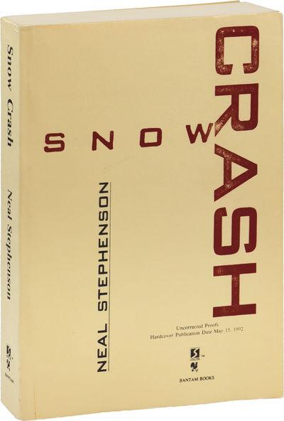 New York: Bantam Books, 1992. UNCORRECTED PROOF, preceding the first edition. Stephenson's breakthro...