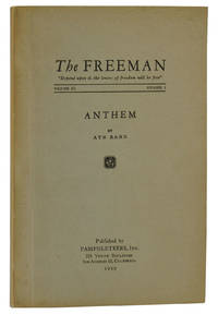 Anthem [in The Freeman, Vol. III, No. I]