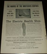 image of Original 1891 Full Page Illustrated Advertisement for the Electric Health  Shoe Made by the Burrell, Houghton & Company of Rockland Mass