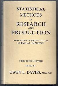 Statistical Methods in Research and Production with Special Reference to the Chemical Industry. Third Edition Revised