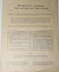 Secrets of Judging the Acting of the Stars