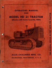 image of Operators Manual For Model HD21 Tractor