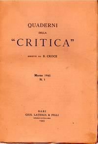 Quaderni della Critica. Diretti da Benedetto Croce