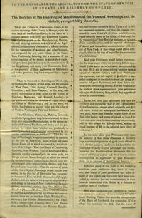 image of 1832 Petition from Inhabitants of Newburgh, NY to Legislature requesting the establishment of an additional bank