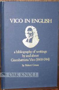 Atlantic Highlands: Humanities Press, 1978. cloth. Vico, Giambattista. 8vo. cloth. (vi), 48 pages. R...