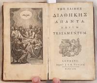 THE KAINHE AIAOHKHE AMANTA NOVUM TESTAMENTUM