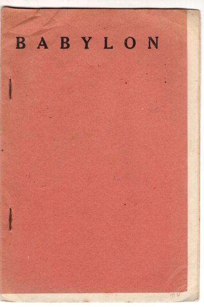 Baghdad : Government of Iraq: Directorate General of Antiquities , 1943 . First Edition. Staplebound...
