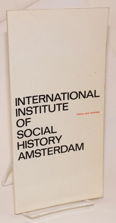 Assen, The Netherlands: Printed by Royal VanGorcum Ltd. for the Institute, 1968. Paperback. 55p., co...