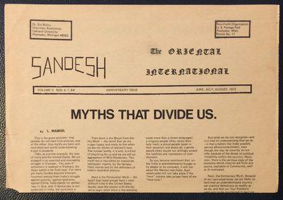 Detroit: The Oriental International, 1971. 4p., tabloid newspaper format, horizontal fold; a chip at...