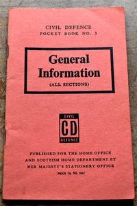 image of CIVIL DEFENCE POCKET BOOK No.3 General Information (All Sections)