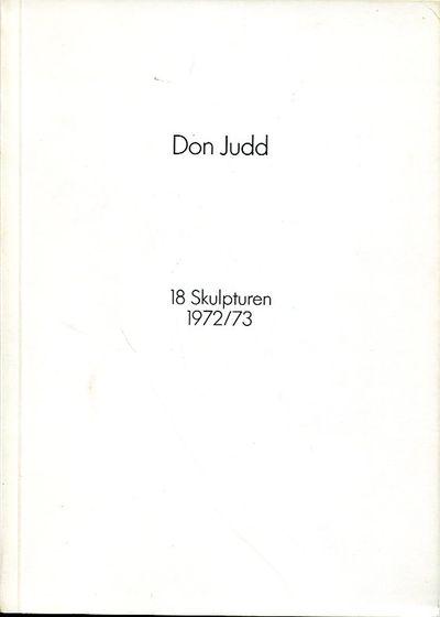 Munich/Cologne: Galerie Heiner Friedrich, 1973. 1st. Original Wraps. Collectible; Fine. Early, uncom...