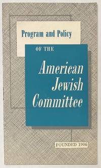 image of Program and policy of the American Jewish Committee