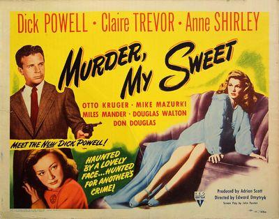 MURDER, MY SWEET (1944) Half sheet...