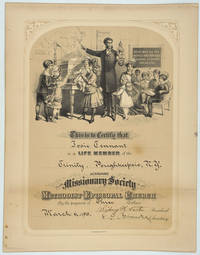 Membership Certificate of the Auxiliary Missionary Society of the Methodist Episcopal Church