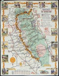 California's Golden Chain.  (Map title: The Golden Chain Council Highway Map of The Northern & Southern Mines.  The Mother Lode).
