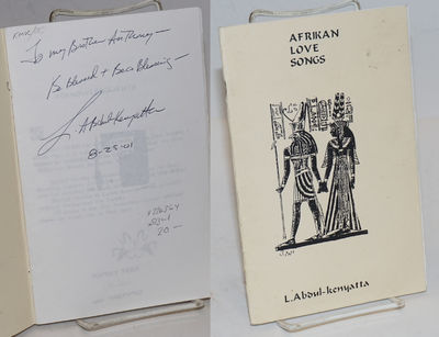 Oakland: Self-published by the author, 1996. 5.5x8.5 inches, personal inscription signed by the poet...