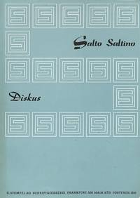 Salto Saltino, Diskus. by STEMPEL A.G. - FRANKFURT A/M - from Frits Knuf Antiquarian Books and Biblio.co.uk