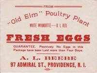 image of Old Elm Poultry Plant Fresh Eggs Label Providence RI
