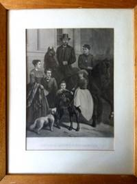 image of General Grant_His Family  (steel engraving- approx 20in X 30in)