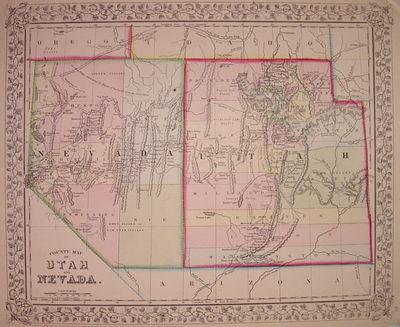 Philadelphia: Mitchell, Samuel Augustus Jr., 1867. unbound. very good(+). Map. Engraving with origin...