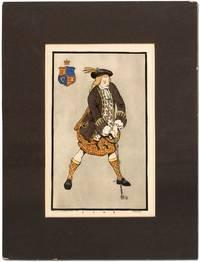 "[Original Print]: Golfer in Scottish Tartans from ""1705"" (1955)"