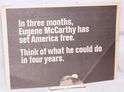 Buffalo, NY: District Headquarters, McCarthy for President, 1968. Four page campaign newspaper, 11.5...