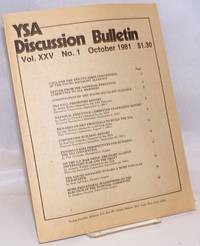 YSA Discussion Bulletin, Volume 25, No. 1, October 1981