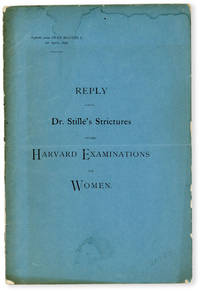 image of Reply to Dr. Stillé's Strictures on the Harvard Examinations for Women [wrapper title]