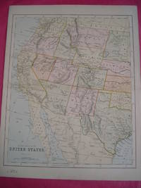 WESTERN DIVISION OF THE UNITED STATES (ORIGINAL ANTIQUE MAP)